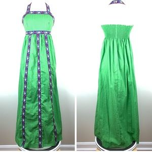 Vintage Denise Are Here Halter Maxi Dress N3301